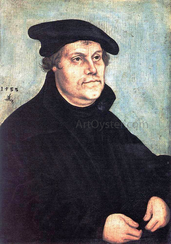 The Elder Lucas Cranach Portrait of Martin Luther - Canvas Art Print