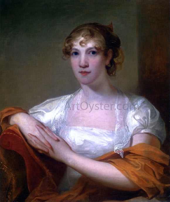 Thomas Sully Portrait of Mary Myers Hale - Canvas Art Print
