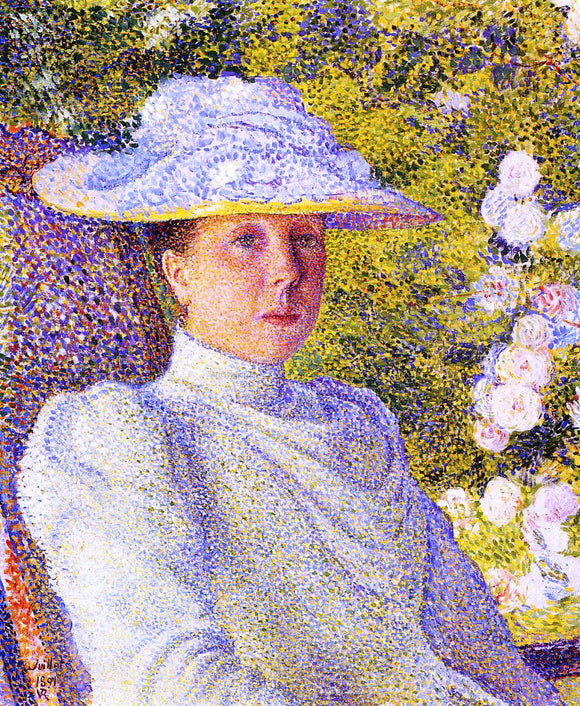 Theo Van Rysselberghe Portrait of Mathilde Vereeken - Canvas Art Print