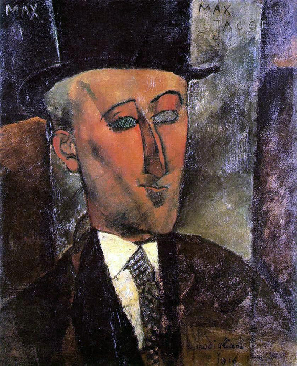 Amedeo Modigliani Portrait of Max Jacob - Canvas Art Print