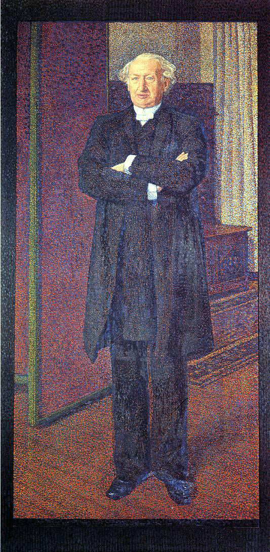 Theo Van Rysselberghe Portrait of Michel van Mos - Canvas Art Print
