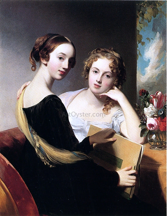 Thomas Sully Portrait of Misses Mary and Emily McEuen - Canvas Art Print
