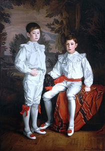 Gerald F Metcalfe Portrait of Molson Brothers Harold and Eric, Sons of J. Elsdale - Canvas Art Print