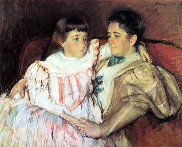 Mary Cassatt Portrait of Mrs Havemeyer and Her Daughter Electra - Canvas Art Print