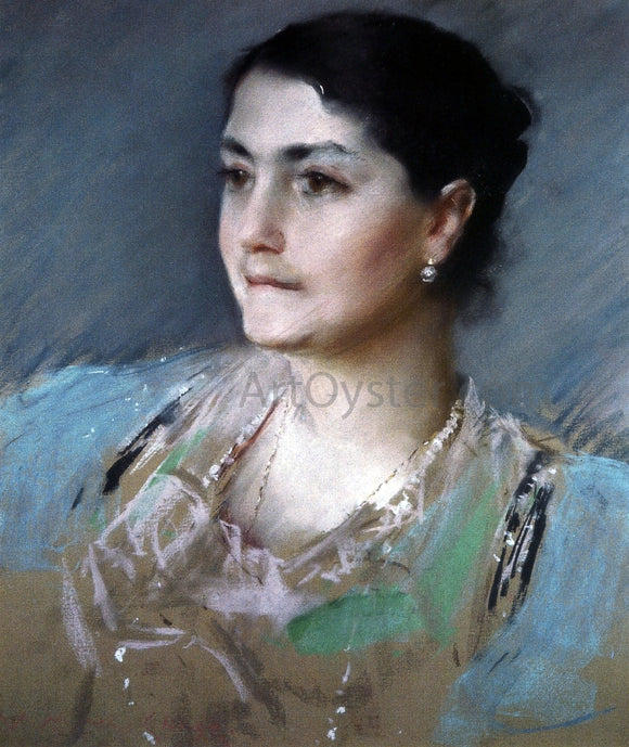 William Merritt Chase Portrait of Mrs. William Chase - Canvas Art Print