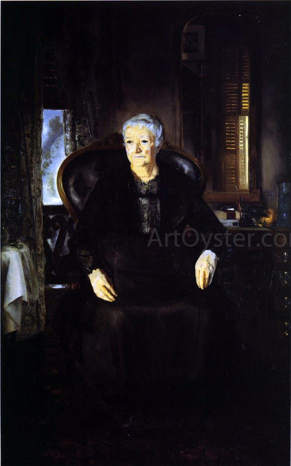 George Wesley Bellows Portrait of My Mother - Canvas Art Print