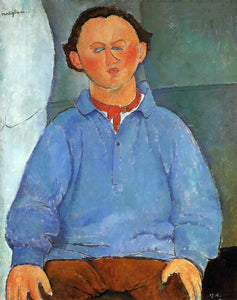 Amedeo Modigliani Portrait of Oscar Meistchaninoff - Canvas Art Print