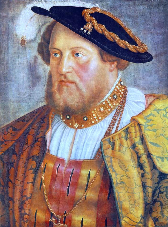 Barthel Beham Portrait of Ottheinrich, Prince of Pfalz - Canvas Art Print