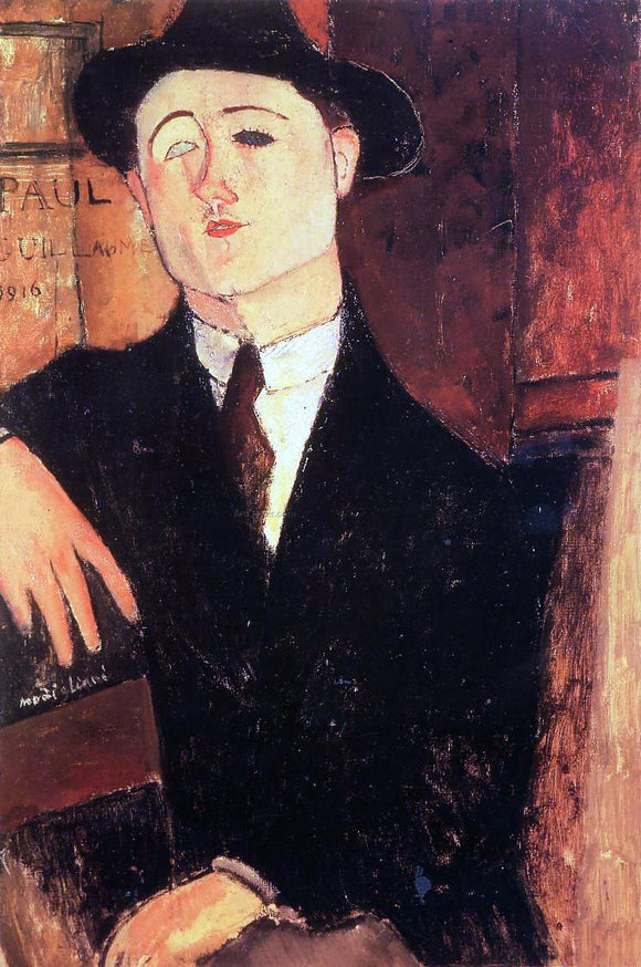 Amedeo Modigliani Portrait of Paul Guillaume - Canvas Art Print