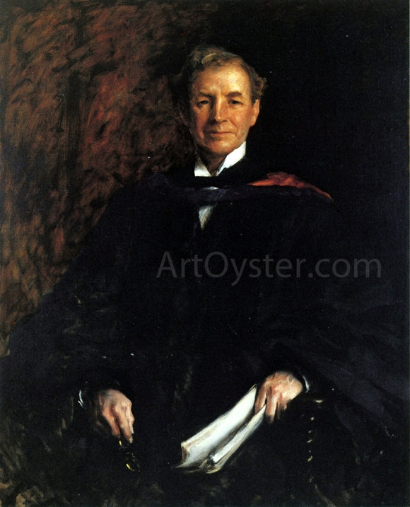 William Merritt Chase Portrait of President William Waugh Smith - Canvas Art Print