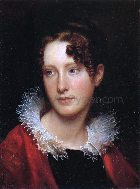 Rembrandt Peale Portrait of Rosalba Peale - Canvas Art Print