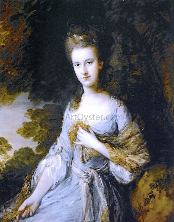 Thomas Gainsborough Portrait of Sarah Buxton - Canvas Art Print