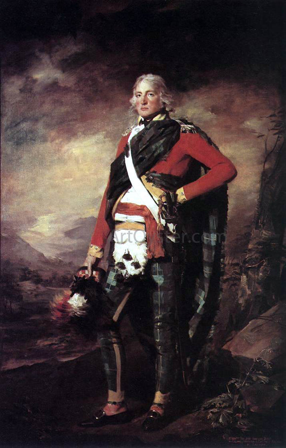 Sir Henry Raeburn Portrait of Sir John Sinclair - Canvas Art Print