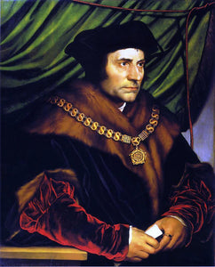 The Younger Hans Holbein Portrait of Sir Thomas More - Canvas Art Print