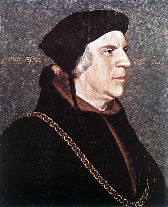 The Younger Hans Holbein Portrait of Sir William Butts - Canvas Art Print