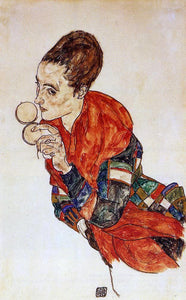 Egon Schiele Portrait of the Actress Marga Boerner - Canvas Art Print