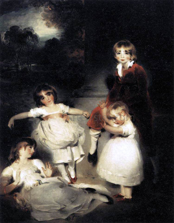 Sir Thomas Lawrence Portrait of the Children of John Angerstein - Canvas Art Print