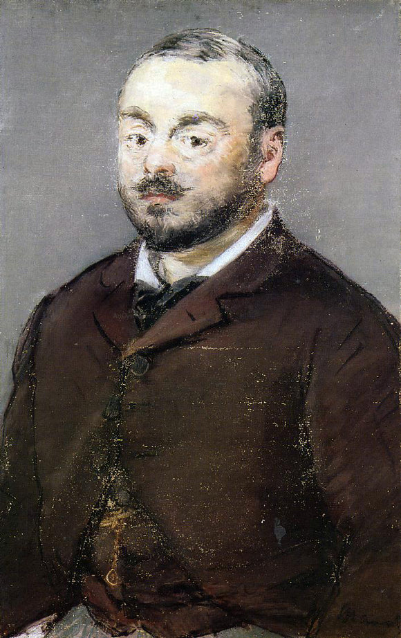 Edouard Manet Portrait of the Composer Emmanual Chabrier - Canvas Art Print