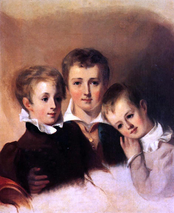 Thomas Sully Portrait of the Howell  Boys - Canvas Art Print