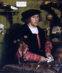 The Younger Hans Holbein Portrait of the Merchant Georg Gisze - Canvas Art Print
