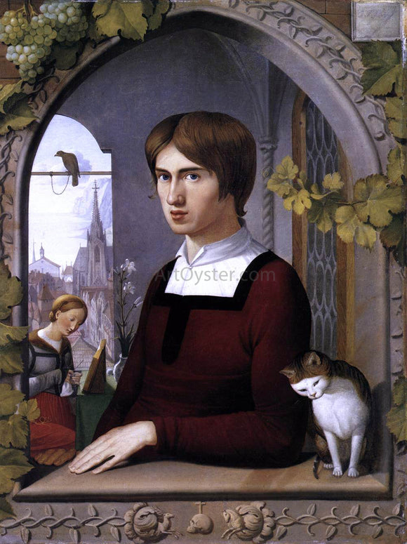 Johann Friedrich Overbeck Portrait of the Painter Franz Pforr - Canvas Art Print
