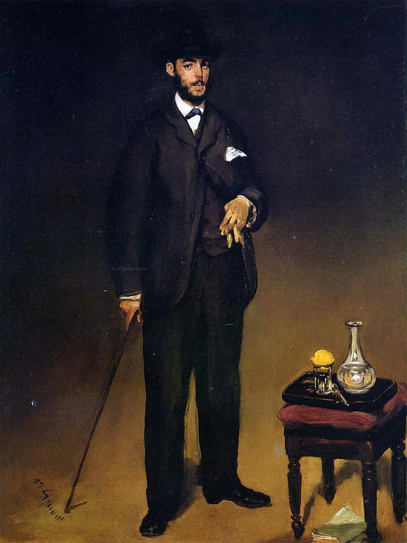Edouard Manet Portrait of Theodore Duret - Canvas Art Print