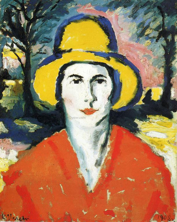 Kazimir Malevich Portrait of Woman in Yellow Hat - Canvas Art Print