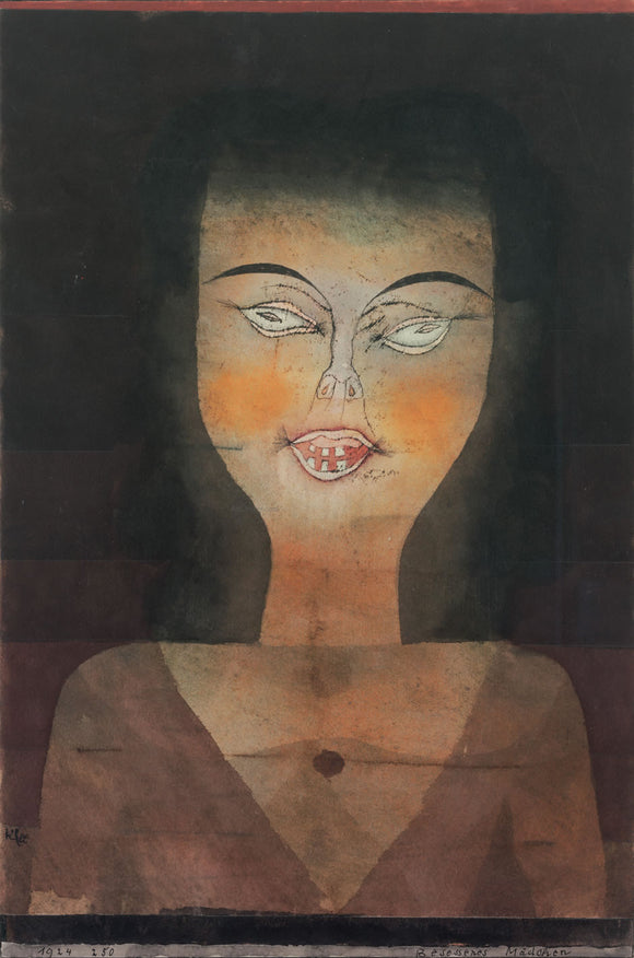 Paul Klee Possessed Girl - Canvas Art Print
