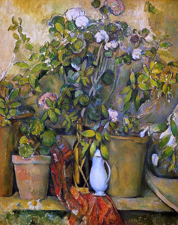 Paul Cezanne Potted Plants - Canvas Art Print