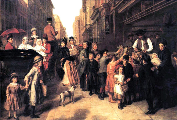 William Powell Frith Poverty and Wealth - Canvas Art Print