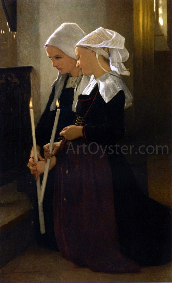 William Adolphe Bouguereau Prayer at Sainte-Anne-d'Auray - Canvas Art Print