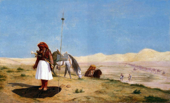 Jean-Leon Gerome Prayer in the Desert - Canvas Art Print