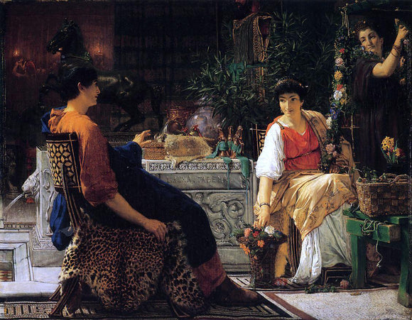Sir Lawrence Alma-Tadema Preparations for the Festivities - Canvas Art Print