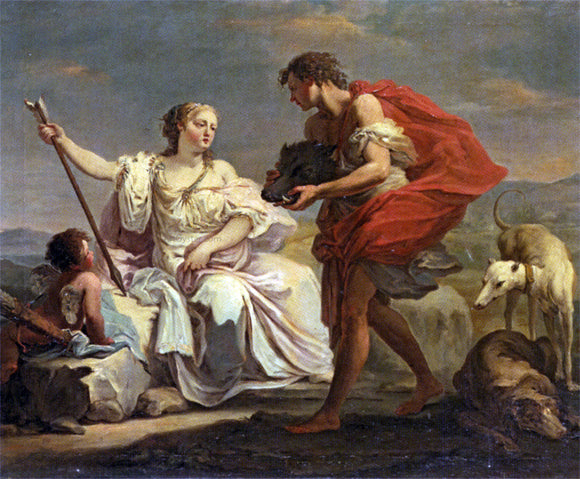 Giovanni Battista Crosato Presenting the head of the Calydonian Boar to Atalanta - Canvas Art Print