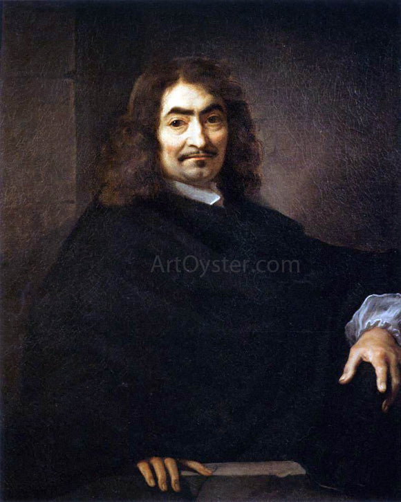Sebastien Bourdon Presumed Portrait of Rene Descartes - Canvas Art Print