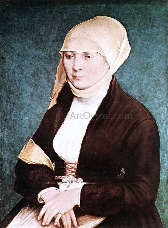 The Younger Hans Holbein Presumed Portrait of the Artist's Wife - Canvas Art Print