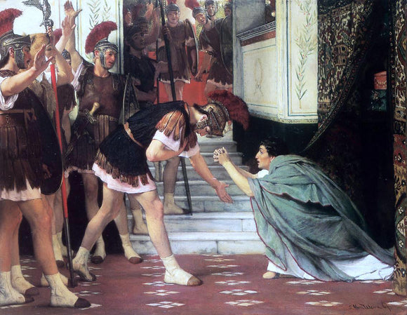 Sir Lawrence Alma-Tadema Proclaiming Claudius Emperor - Canvas Art Print