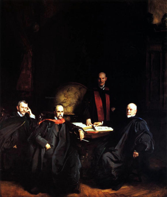John Singer Sargent Professors Welch, Halsted, Osler and Kelly (also known as The Four Doctors) - Canvas Art Print
