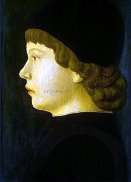 Jacopo Bellini Profile Portrait of a Boy - Canvas Art Print