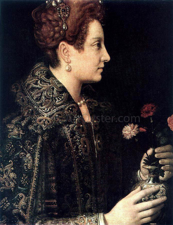 Sofonisba Anguissola Profile Portrait of a Young Woman - Canvas Art Print