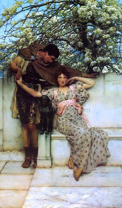 Sir Lawrence Alma-Tadema Promise of Spring - Canvas Art Print