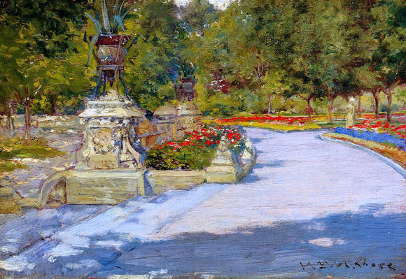 William Merritt Chase Prospect Park - Canvas Art Print