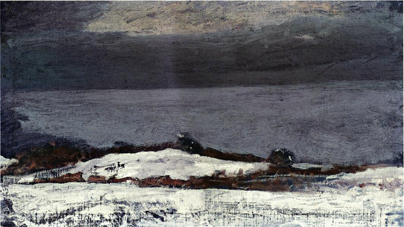 Winslow Homer Prout's Neck in Winter - Canvas Art Print