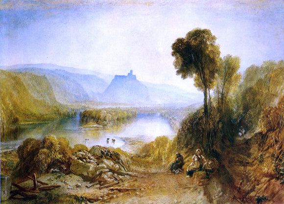 Joseph William Turner Prudhoe Castle, Northumberland (for Picturesque Views of England and Wales) - Canvas Art Print