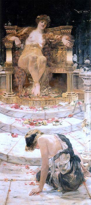 Edward Matthew Hale Psyche at the Throne of Venus - Canvas Art Print
