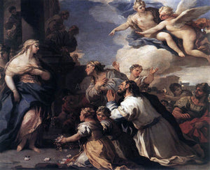 Luca Giordano Psyche Honoured by the People - Canvas Art Print