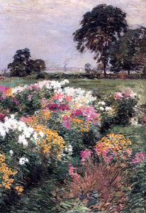 Willard Leroy Metcalf Purple, White and Gold - Canvas Art Print