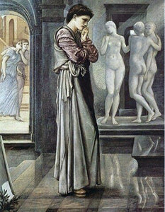 Sir Edward Burne-Jones Pygmalion and the Image I: The Heart Desires - Canvas Art Print