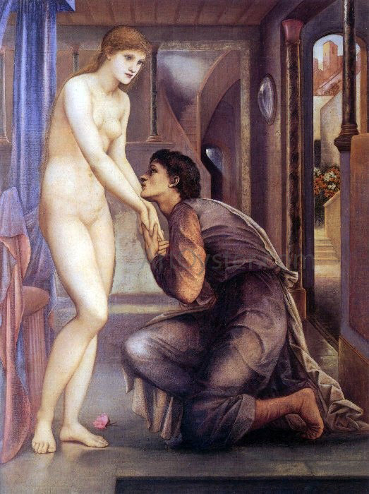 Sir Edward Burne-Jones Pygmalion and the Image - The Soul Attains - Canvas Art Print