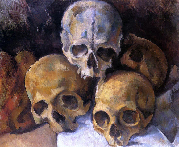 Paul Cezanne A Pyramid of Skulls - Canvas Art Print